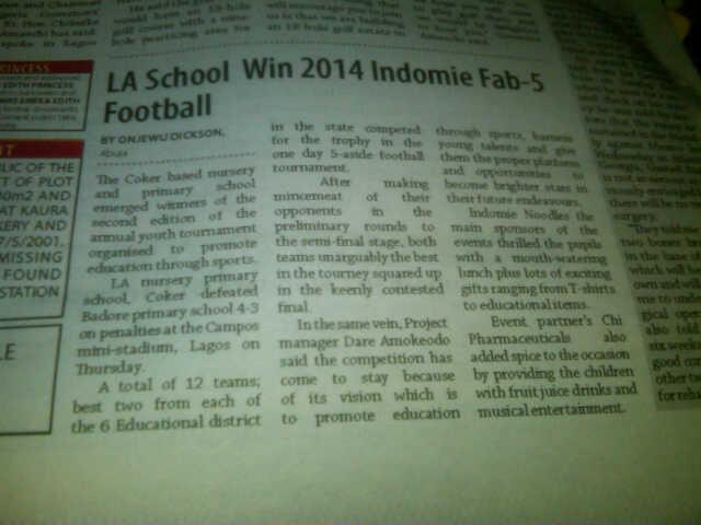 Leadership Newspaper Report